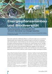 Energiepflanzenanbau und Biodiversität - EVA