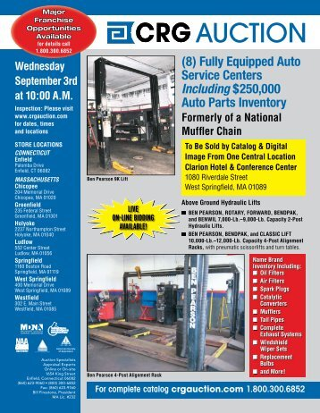 Fully Equipped Auto Service Centers Including $250000 Auto Parts ...