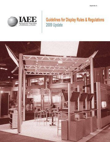 IAEE Guidelines for Display Rules & Regulations - Shepard