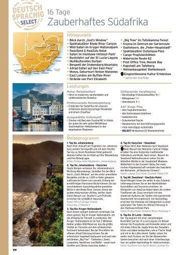 16 Tage Zauberhaftes Südafrika - COCO Weltweit Reisen