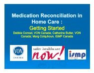 Medication Reconciliation in Home Care - Safer Healthcare Now!
