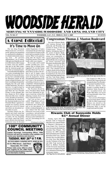 WOODSIDE 5 1 09 - Woodside Herald