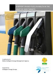 a report on bio-fuels in malta in the light of 2020 targets - MIEMA