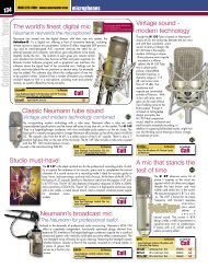 The world's finest digital mic Vintage sound ... - Sweetwater.com
