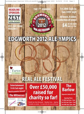2012 - Edgworth Real Ale Festival