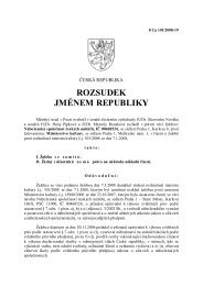 ROZSUDEK JMÉNEM REPUBLIKY - Ministerstvo kultury