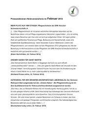 Presseausschnitte Heimverzeichnis Monat Januar 2012