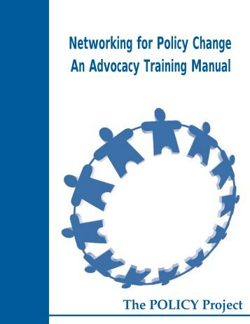 An Advocacy Training Manual - POLICY Project