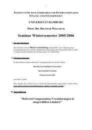 Seminar Wintersemester 2001/2002 - IIFS