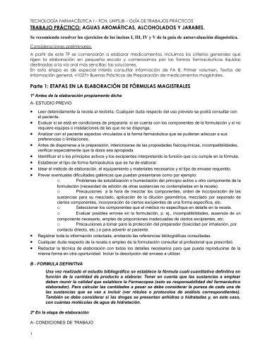 RECOMENDACIONES PARA LOS TRABAJOS PRACTICOS