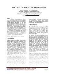 implementation of an efficient algorithm - Journal Of Computer ...
