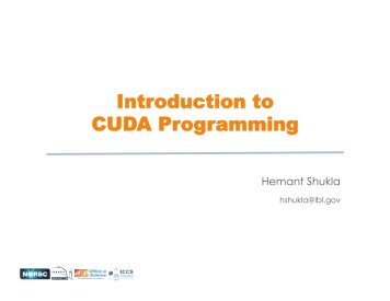 Introduction to CUDA programming.pptx - ICCS