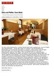 Salz und Pfeffer. Dom Beisl - Freizeit - Genuss - KURIER.at