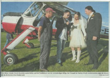 Frisch getrautes Paar hebt beim Flugplatzfest ab ins ... - Segelflug.de