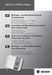 BECK-O-TRONIC 5 Basic - Becker Antriebe GmbH