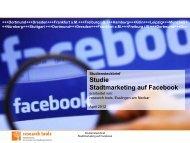 Studie Stadtmarketing auf Facebook 2012 - research Tools