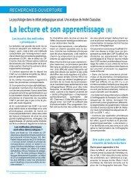 La lecture et son apprentissage (II) - Icem