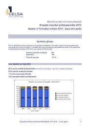 Enquête d'insertion 2010