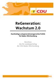 ReGeneration: Wachstum 2.0 - CDU Baden-Württemberg