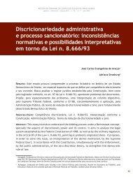 Discricionariedade administrativa e processo ... - Revista do TCE