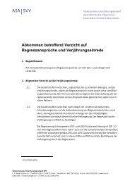 Abkommen betreffend Verzicht auf Regressansprüche und ...