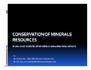 Conservation of Mineral Resources - GMDC