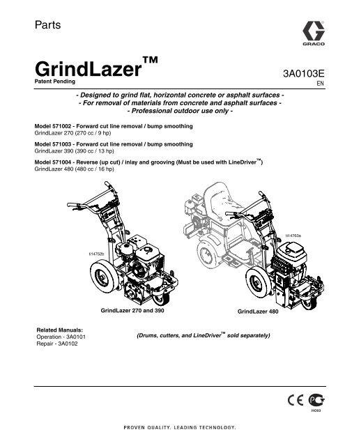 3A0103E - GrindLazer, Parts (English) - Graco Inc.