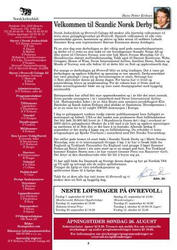 Program 26. august_komplett.pdf - Øvrevoll Galoppbane