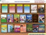 Exercise Science Bookshelf