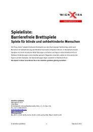 Spieleliste: Barrierefreie Brettspiele - wienXtra-spielebox