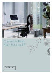 Commercial Blinds Neon Black-out FR - Amo Blinds