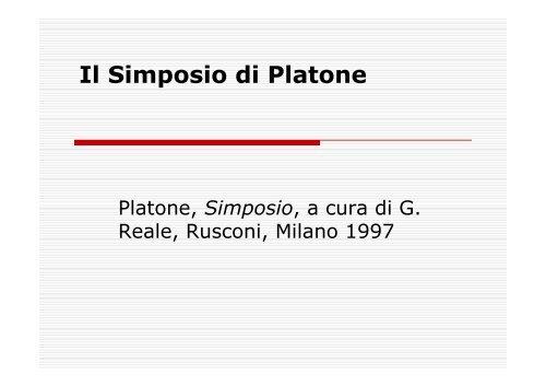 Il Simposio Di Platone Pdf