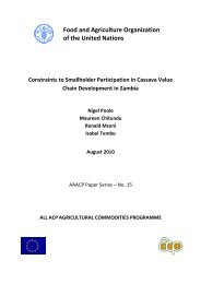 Constraints to smallholders participation in Cassava value ... - aaacp