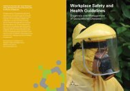 Workplace Safety and Health Guidelines - Occupational Diseases