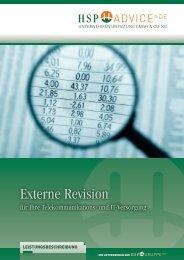 """Prospekt """"Externe Revision"""" - HSP GRUPPE"""