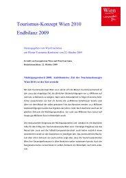 Wien 2010 Stand der Dinge 2009