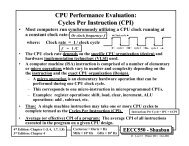 CPU Performance Evaluation: Cycles Per Instruction (CPI)