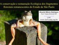 A conservação e restauração Ecológica dos fragmentos ... - SIGAM