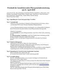 Protokoll der konstituierenden Pfarrgemeinderatssitzung am 21 ...