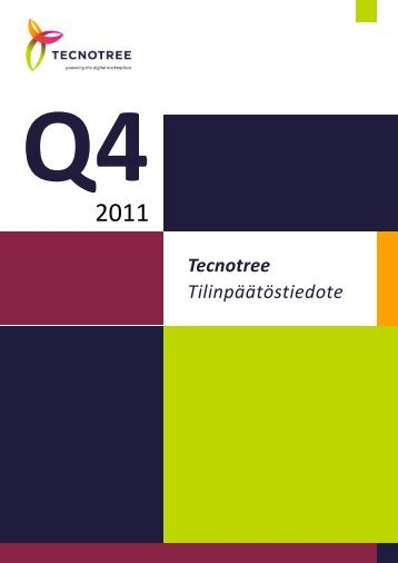1-12/2011 Tilinpäätös, tiedote - Tecnotree
