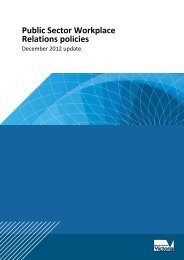 Public Sector Workplace Relations Policies - Department of ...