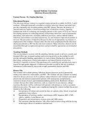 Internal Medicine Curriculum Infectious Diseases Rotation Contact ...