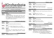 Kirchenbote 02 - Seelsorgeeinheit Görwihl