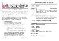 Kirchenbote 09 - Seelsorgeeinheit Görwihl