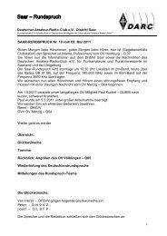 1 SAAR-RUNDSPRUCH Nr. 18 vom 08. Mai 2011 ... - Distrikt Saar