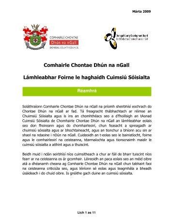 Comhairle Chontae Dhún na nGall Lámhleabhar Foirne le haghaidh ...
