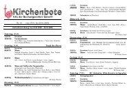Kirchenbote 01 - Seelsorgeeinheit Görwihl