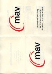 Mitarbeitervertretung (MAV) - Flyer
