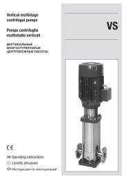 Vertical multistage centrifugal pumps Pompe centrifughe ... - Santeko