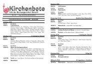 Gottesdienstordnung vom 16.05.2009 - Seelsorgeeinheit Görwihl
